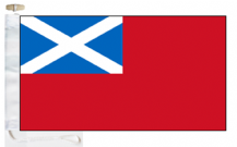 Scotland Royal Scots Navy Red Ensign Pre 1707 Courtesy Boat Flags (Roped and Toggled)